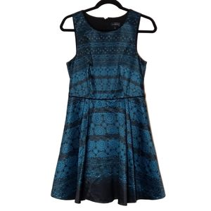 The Limited Green & Black A-Line Dress Sise 4- EUC